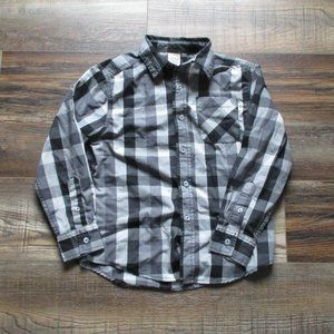 Black and Grey button down shirt